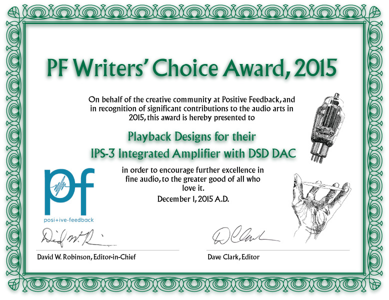 Writer's Choice Award 2015 for the IPS-3