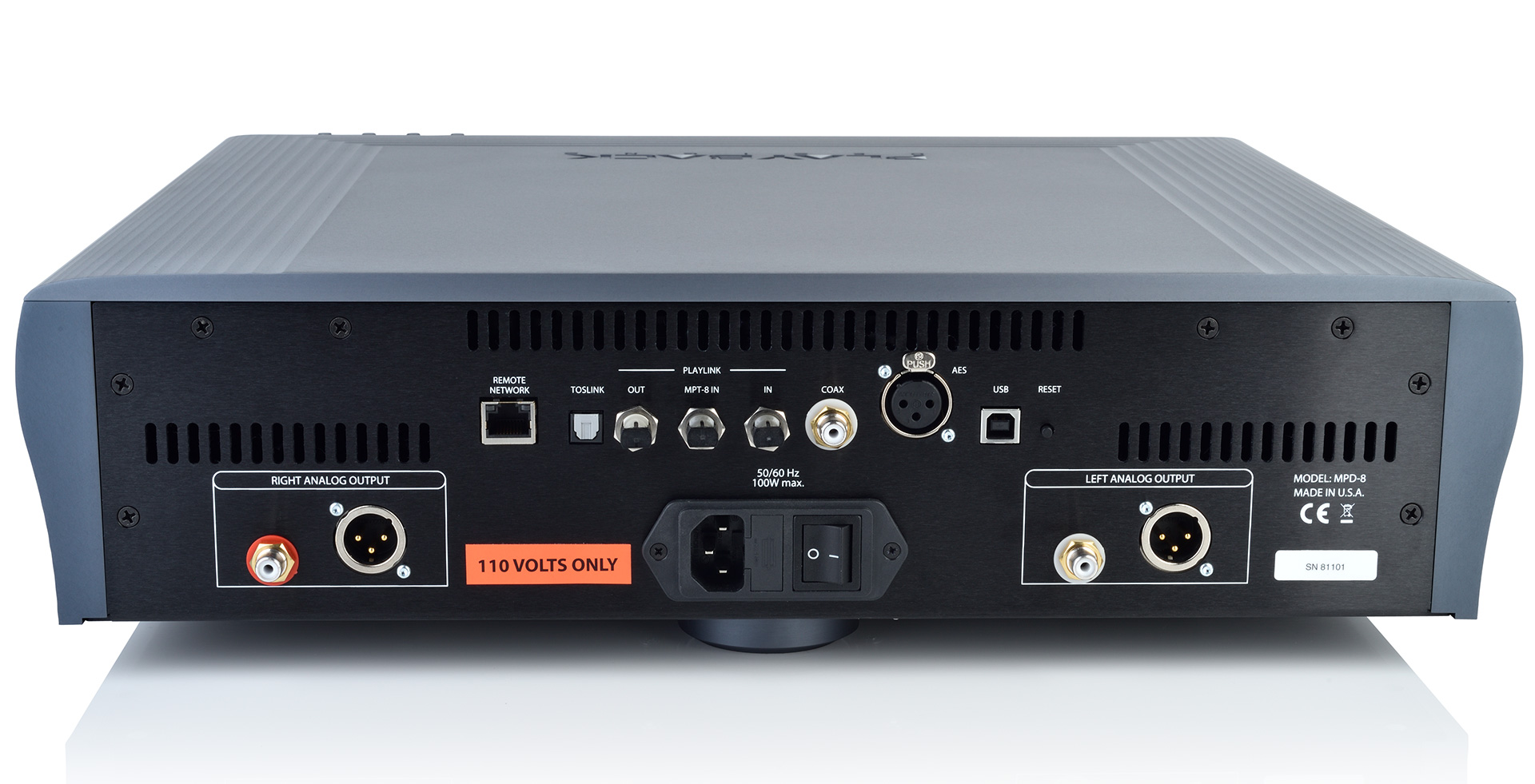 8-Series DAC - Back - Playback Designs
